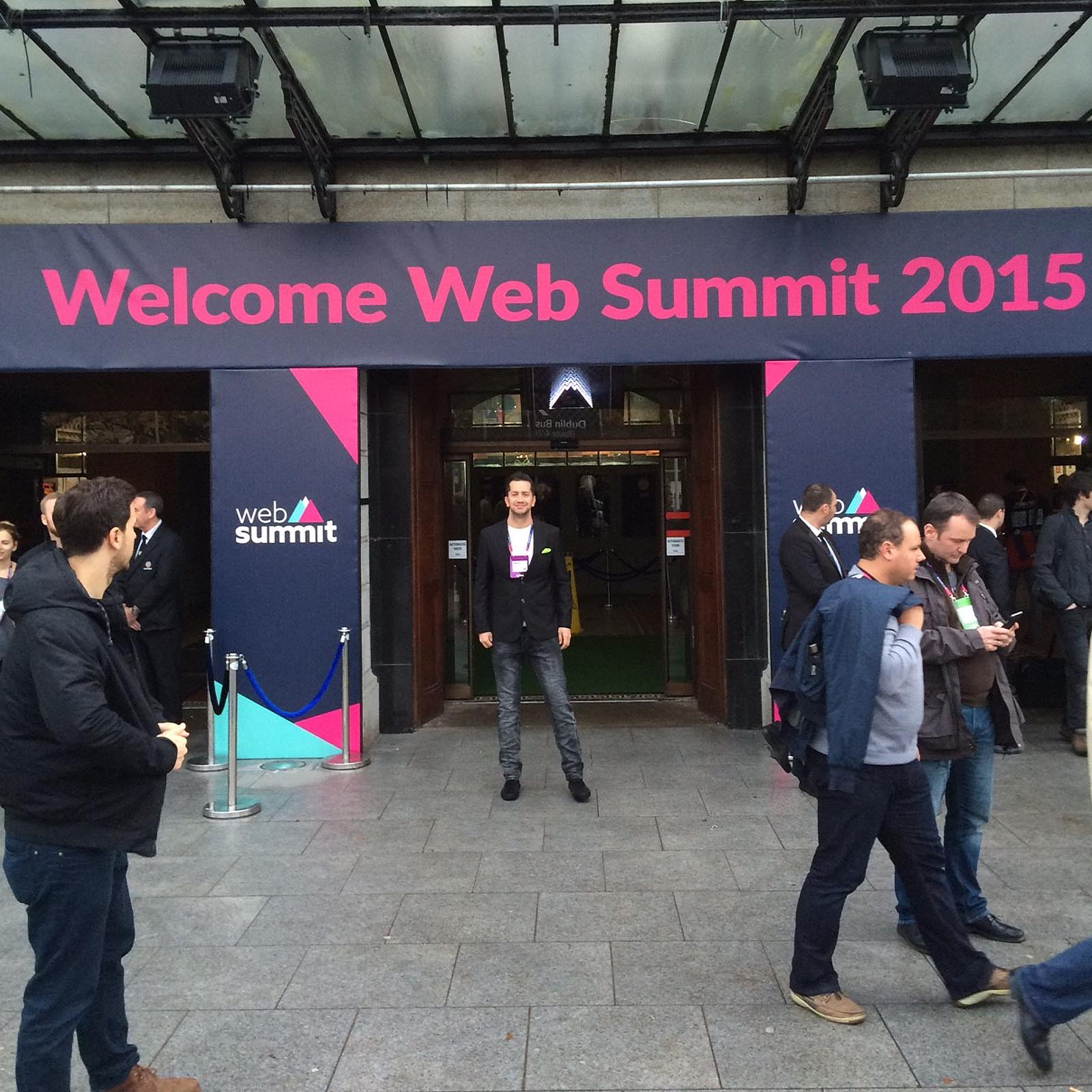 Adam at the 2015 WebSummit Technology Conference in Dublin Ireland